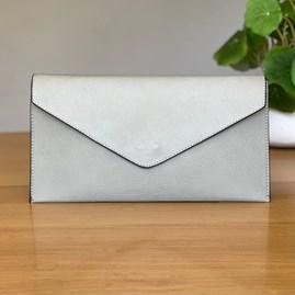 Cross Body Clutch Bag in Light Grey